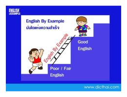 ความรู้เกี่ยวกับภาษาอังกฤษ ที่มา Collocation English By Example