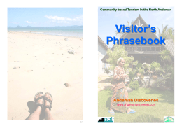 Visitor`s Phrasebook - Andaman Discoveries