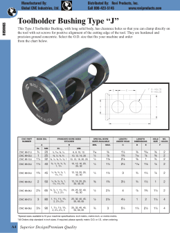 "Toolholder Bushing Type ""J"""