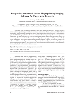 Perspective Automated Inkless Fingerprinting Imaging