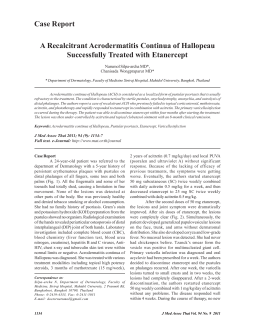 A Recalcitrant Acrodermatitis Continua of Hallopeau Successfully