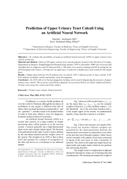 Prediction of Upper Urinary Tract Calculi Using an Artificial Neural