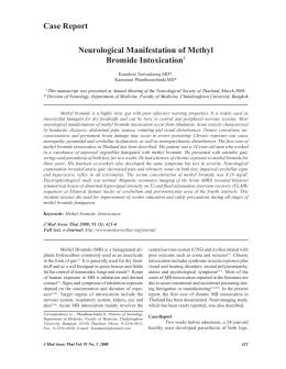 Neurological Manifestation of Methyl Bromide