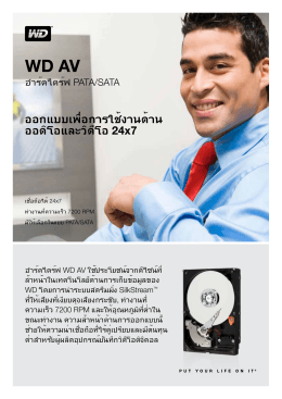 WD AV Product Overview
