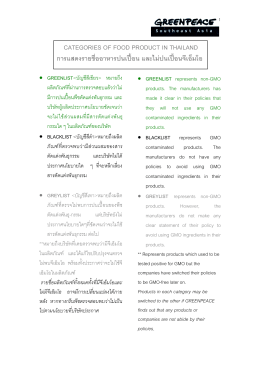 categories of food product in thailand การแสดงรายชื่อ