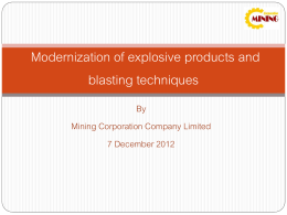 Modernization of explosive products and blasting techniques