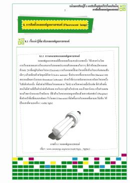 8. การติดตั้งหลอดฟลูออเรสเซนต์ (Fluorescent lamp)