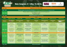 Main Congress: D 1 (May 19, 2014)