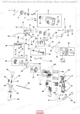 STEL 506 K Bohrhammer Stanley BlackundDecker, Ersatzteile