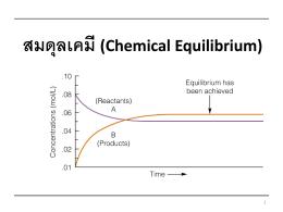 สมดุลเคมี (Chemical Equilibrium)