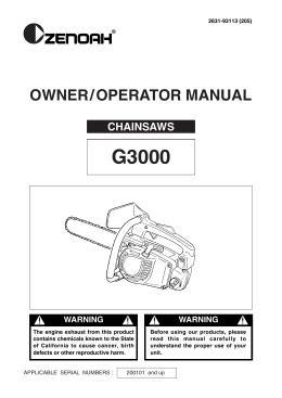OWNER / OPERATOR MANUAL