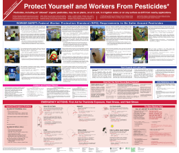 Pesticide education twin wall charts for Hawai`i farms