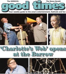 `Charlotte`s฀Web`฀opens฀ at฀the฀Barrow