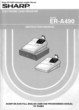 Sharp ER-A490 instruction english Manual - THE-CHECKOUT-TECH