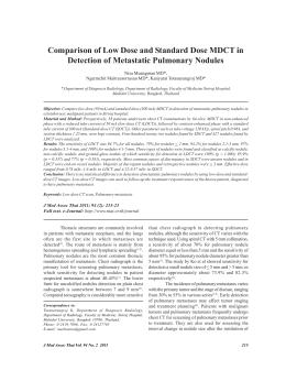 Comparison of Low Dose and Standard Dose MDCT