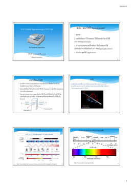 UV-Visible Spectroscopy (UV-Vis) สเปกโทรสโคปี (Spectroscopy)