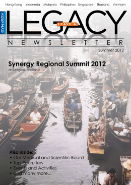 Synergy Regional Summit 2012 NEWSLETTER