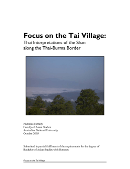 Focus on the Tai Village