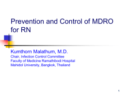 10.30 Prevent and Control of MDRO