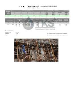 BS EN 39:2001 Loose Steel Tubes For Scaffolds