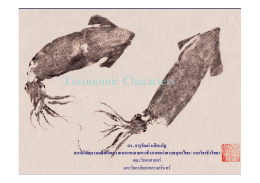Taxonomic Characters PMBC.ppt [Compatibility Mode]