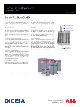 Banco Fijo de Capacitores Banco Fijo Tipo CLMD
