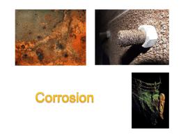 บทที่ 8 Corrosion - ภาค วิชา วิศวกรรม อุตสาห การ