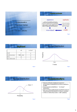 สัญลักษณ์ Normal Distribution Normal Distribution