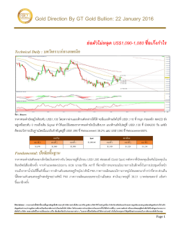 Gold Direction By GT Gold Bullion: 22 January 2016