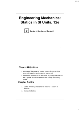 Engineering Mechanics: Statics in SI Units, 12e