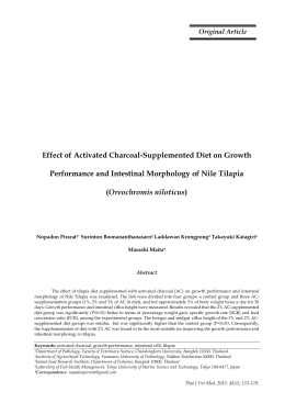Effect of Activated Charcoal-Supplemented Diet on Growth