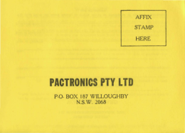 PACTRONICS PTY LTD