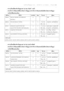 ร ะ ดั บ ป ริ ญ ญ า เ อ ก 2558/2 บ า ง แ ส น Page | 1 ตารางเรียนน