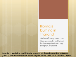 Biomass burning in Thailand