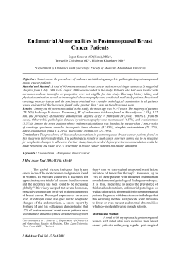 Endometrial Abnormalities in Postmenopausal Breast