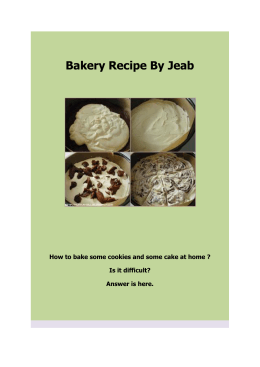 Bakery Recipe By Jeab