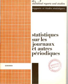 Statistiques sur les journaux et autres p้riodiques