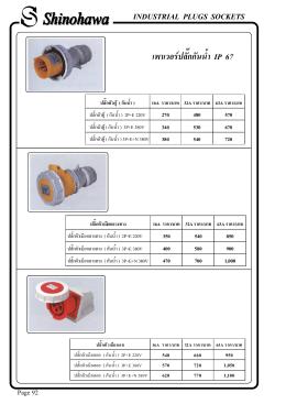 เพาเวอร  ปลั๊กกันน้ํา IP 67 INDUSTRIAL PLUGS SOCKETS
