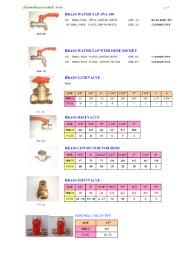 ANA BRASS VALVE AND TAP
