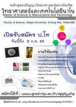 8.สาขาวิชาวิทยาศาสตร์และเทคโนโลยีนาโน