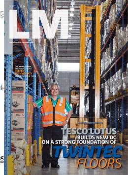 Logistics Manager, Issue 400, July 15, 2014