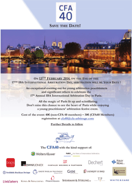 17th Annual IBA International Arbitration Day