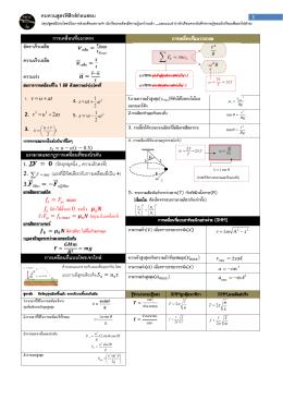 ทบทวนสูตรฟิสิกส์ก่อนสอบ การเคลื่อนที่แนวตรง