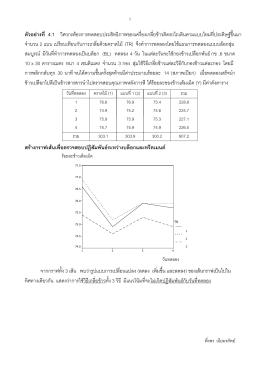 สรุปผลการเปรียบเทียบค่าเฉลี่ย - ระบบ E