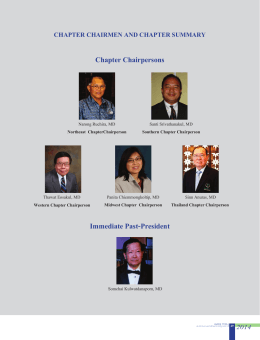 Chapter Chairpersons Immediate Past-President