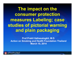 The impact on the p consumer protection measures Labeling