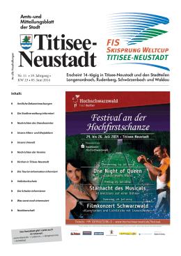 Festival an der Hochirstschanze - Titisee
