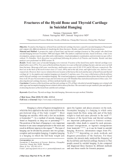 Fractures of the Hyoid Bone and Thyroid Cartilage in