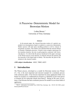 A Piecewise–Deterministic Model for Brownian