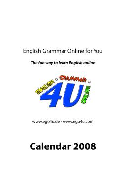 ego4u Calendar 2008 - English Grammar Online
